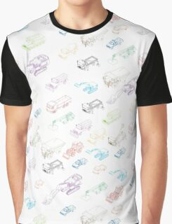 pattern with isometric icons of special equipment and machines Graphic T-Shirt