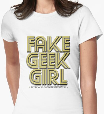 Bona-Fide Fake Geek Girl Womens Fitted T-Shirt