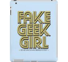 Bona-Fide Fake Geek Girl iPad Case/Skin