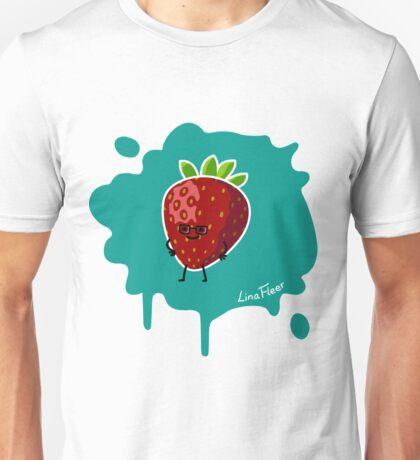 Früchtchen - Erdbeere mit Brille Unisex T-Shirt