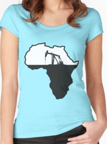 Africa Oil Women's Fitted Scoop T-Shirt