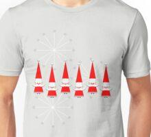 """Mid-Century Happy Santas""© Unisex T-Shirt"