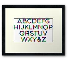 Alphabet multi Framed Print