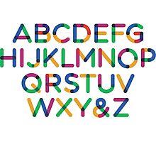 Alphabet multi Photographic Print