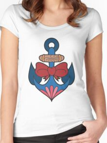 Traditional Anchor Women's Fitted Scoop T-Shirt