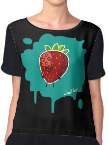 Früchtchen - Erdbeere mit Brille Chiffon Top