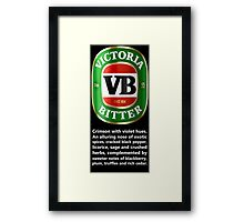 VB TASTING NOTES Framed Print