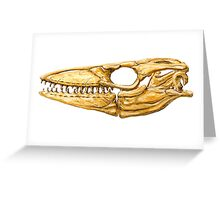 Mosasaur Skull Greeting Card