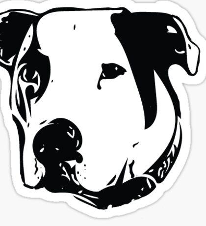 American Bulldog Pit Bull Line Art Sticker