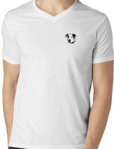 American Bulldog Pit Bull Line Art Mens V-Neck T-Shirt