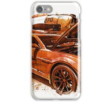 New Chevy Camaro and Vintage Airplane  iPhone Case/Skin