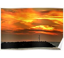 Burning Sunset Poster