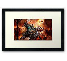 Warhammer Total war Chaos Vs Paladin Framed Print