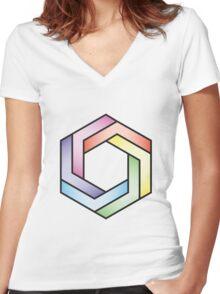 Exa Women's Fitted V-Neck T-Shirt