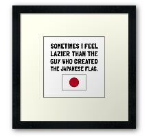 Lazier Japanese Flag Framed Print