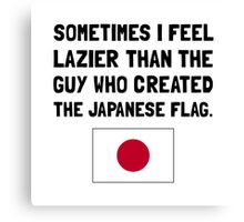 Lazier Japanese Flag Canvas Print