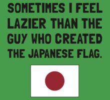 Lazier Japanese Flag One Piece - Short Sleeve