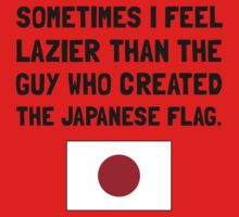 Lazier Japanese Flag Baby Tee