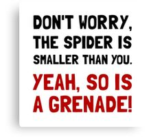 Spider Grenade Canvas Print
