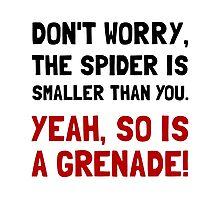 Spider Grenade Photographic Print