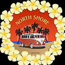 21 Window VW Bus Red Surfboard North Shore by Frank Schuster
