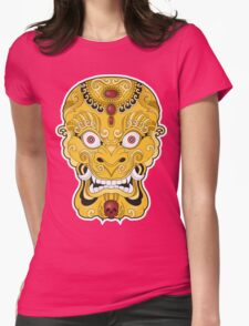 Gold Womens Fitted T-Shirt