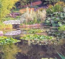 Lily Pond in Autumn - Hobart Botanical Gardens Sticker