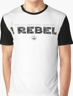 Star Wars : Rogue One - I Rebel - Black Dirty Graphic T-Shirt
