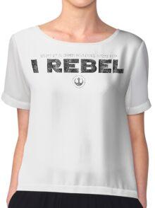 Star Wars : Rogue One - I Rebel - Black Dirty Chiffon Top