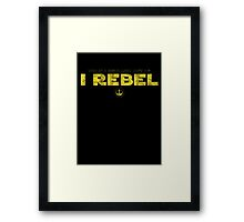 Star Wars : Rogue One - I Rebel - Yellow Dirty Framed Print