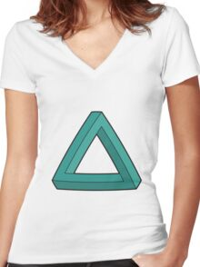 Impossible Triangle Women's Fitted V-Neck T-Shirt