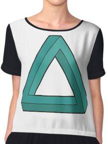 Impossible Triangle Chiffon Top