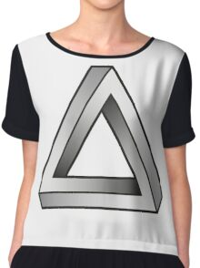 Impossible Triangles Chiffon Top