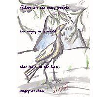 Crane Quote Photographic Print