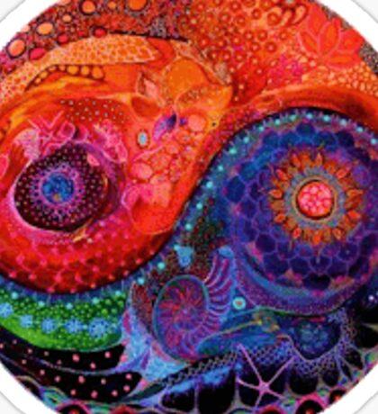 Colorful yin yang Sticker