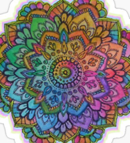 Rainbow mandala Sticker