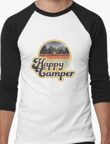 Happy Camper (Retro) Men's Baseball ¾ T-Shirt