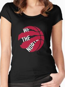 "Toronto Raptors logo ""We The North"" Women's Fitted Scoop T-Shirt"