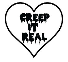 Creep It Real Heart Photographic Print