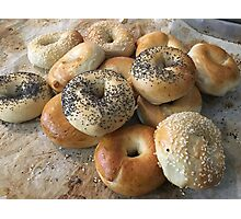 Bagels on a tray Photographic Print