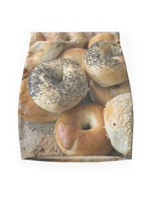 Bagels on a tray Mini Skirt