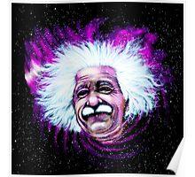 Albert Einstein Space Poster