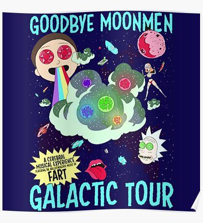Goodbye Moonmen Galactic tour Rick Collage Poster