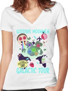 Goodbye Moonmen Galactic tour Rick Collage Women's Fitted V-Neck T-Shirt