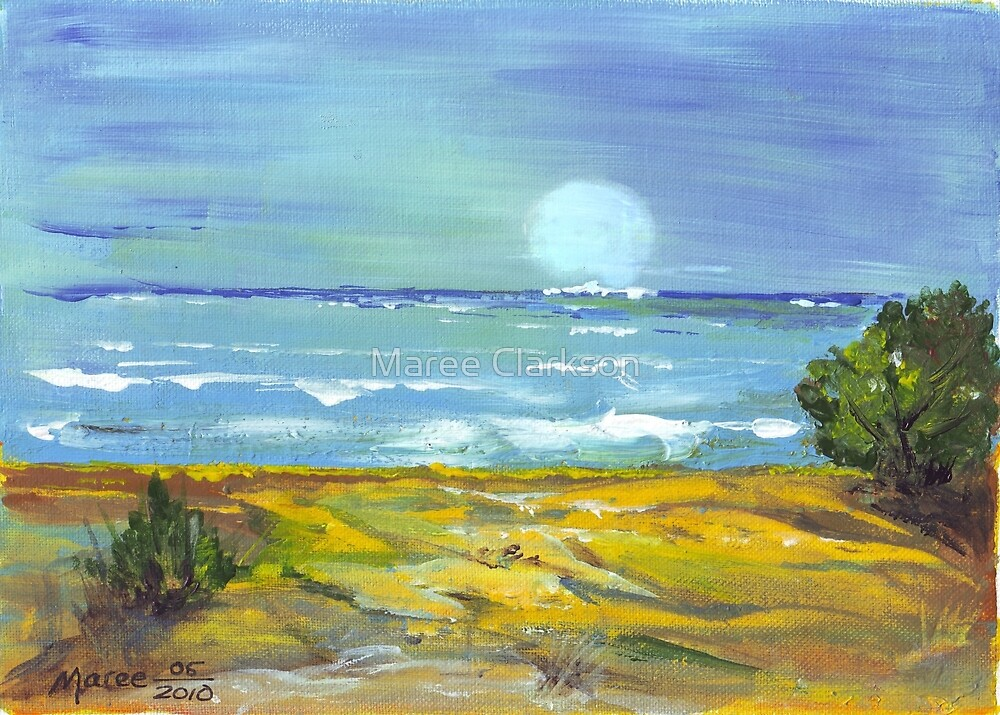 Moonlit Beach  by Maree Clarkson