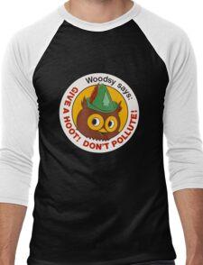 Give a Hoot!  Men's Baseball ¾ T-Shirt