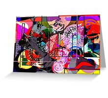 Abstract Madness 1 Greeting Card