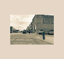 Wilmington Illinois, USA, Water Street old image style split tone Unisex T-Shirt