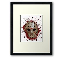 FRIDAY THE 13TH - Bloody Mask Framed Print