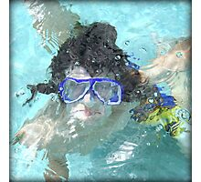 Face Under Water Photographic Print